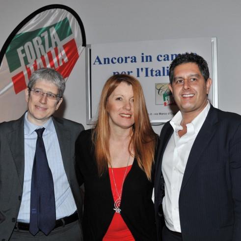 Michela Vittoria Brambilla con Giovanni Toti e Mario Giordano 2