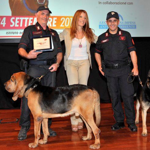 Premiazione unità cinofile dei Carabinieri